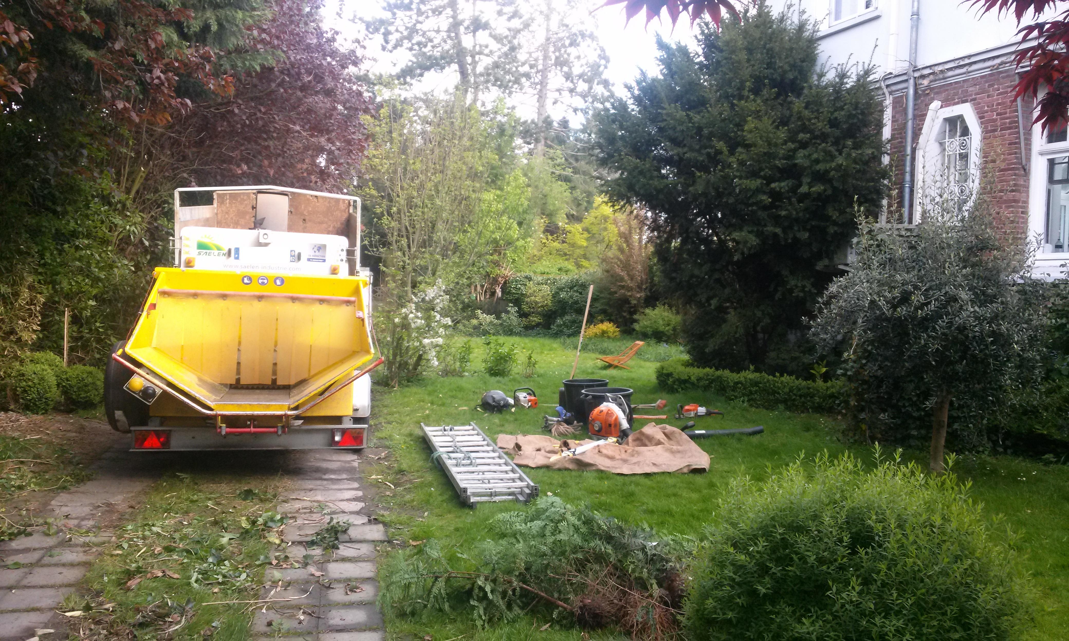 aménagement de jardin lille : avant